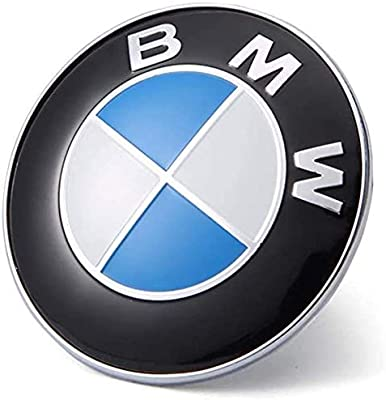 X1 X3 74mm BMW Emblem 7-Series X5 2 Pin Replacement Badge Hood or Trunk Logo Fit for BMW 3-Series 5-Series 6-Series