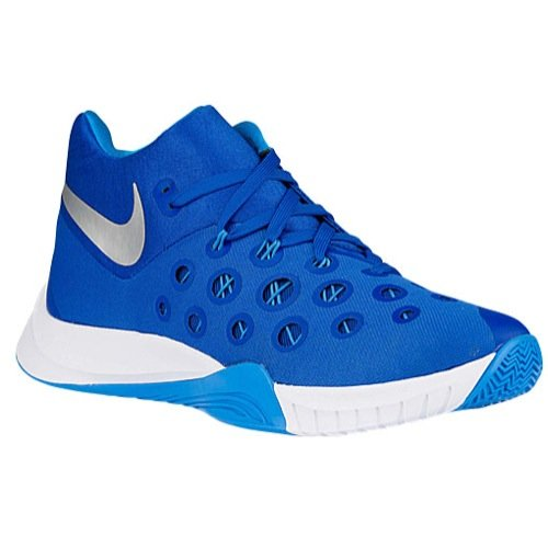 Nike Zoom Hyperquickness 2015 Mens' Basketball Shoe TB Game Royal/Metallic Silver/Blue  Size 11