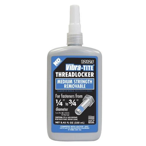 Vibra-TITE 121 Medium Strength Removable Anaerobic Threadlocker, 250 ml Bottle, Blue