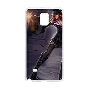Samsung Galaxy Note 4 Cell Phone Case White League of Legends Mafia Miss Fortune LOL-STYLE-6825