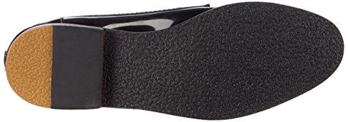 Giudecca JY1507-1 - Zapatillas de casa de cuero mujer negro - negro