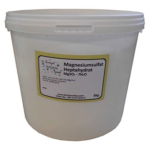 Bittersalz - Magnesiumsulfat 5kg - Epsom Salz - MgSO4·7H2O - Ph.Eur