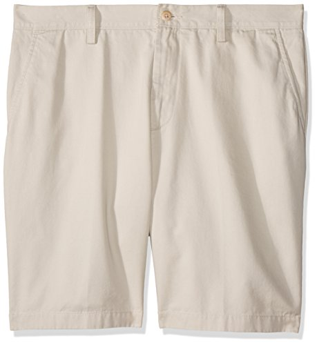 (Nautica Men's Cotton Twill Flat Front Chino Short, True Stone, 33W)