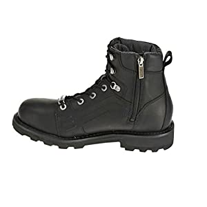 Harley-Davidson Men's Lee Black Leather Motorcycle Boots. D96056 (Black 13)