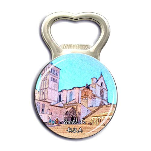 The Cathedral Basilica of St. Francis of Assisi Santa Fe USA America Refrigerator Fridge Magnets Bottle Opener Strong Magnet Stickers City Tourist Souvenirs Gifts Kitchen Whiteboard Decoration (Cathedral Basilica Of St Francis Of Assisi)
