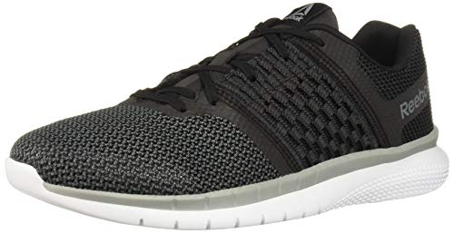 Reebok Men's Print Prime Runner Sneaker, Black/Gravel/tin Grey/White, 8 M US