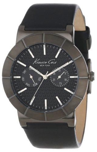 Eye Dial Watch (Kenneth Cole New York Men's KC1929 Dress Sport Grey Dial Dual Sub-Eye Multi-Function Strap Watch)
