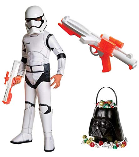 Star Wars Ep VIII: The Last Jedi - Storm Trooper SPR DLX Child Costume with Blaster and Candy Pail M Dlx Movie Childrens Costume