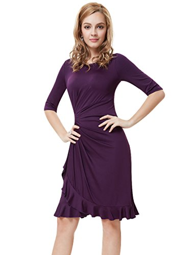 Ever-Pretty Womens Wedding Guest Dresses Knee Length 16 US Purple by Ever-Pretty