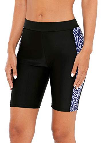 beautyin Long Jammers for Womens Boyshort Boardshorts Rash Guard Bottoms XL