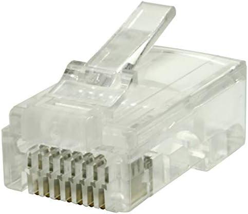Jar of 50 | Clear Construct Pro Quick Crimp RJ-45 Cat6 Connectors