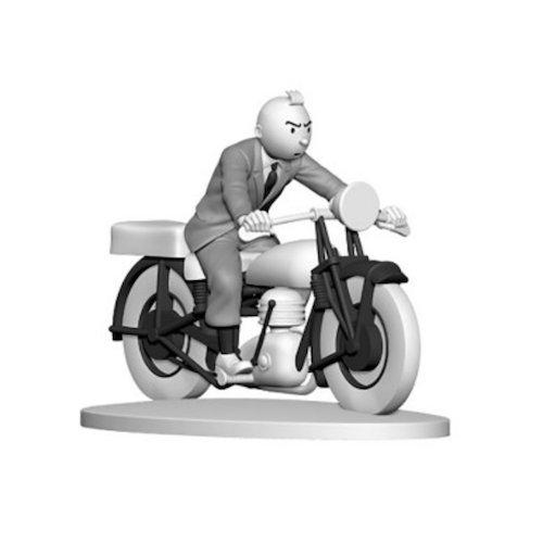 Figurine de collection Tintin motard avec sa moto Hors-Série N°8 42175 (2015)
