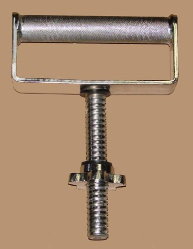 Knurled Grip - C-0290 Extra Wide Threaded Kettlebell Handle - Chrome Plated Solid Steel with Knurled Grip