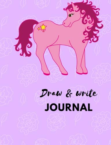 Draw and Write Journal: Pink Pony Primary Notebook, Grades K-3rd, 100 pages of story paper, Room for drawing and writing practice, Great gift idea