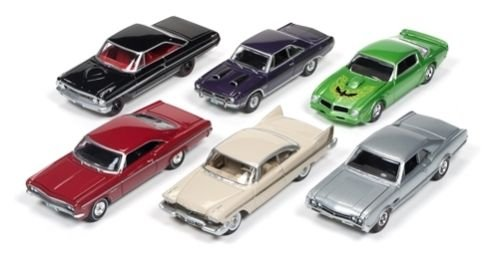 Autoworld Muscle Cars Release 5B Premium Licensed Set Of 6 Cars 1/64 by Autoworld 64042 B 1958 Ford Galaxie