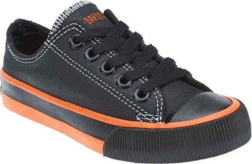Harley-Davidson Kid's Rascal Black Low-Cut Black Sneakers. D61008 (Black, 12)