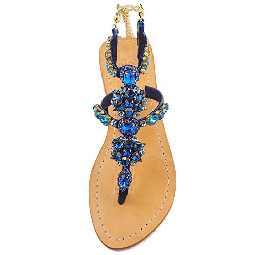 CARTIER Jewelry Sandals Pasha Flats, Rolla (13) Catalina/Blue