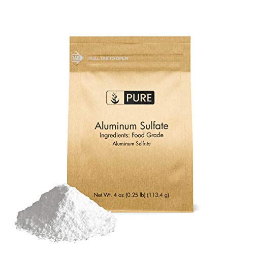 Aluminum Sulfate (4 oz.) by Pure Organic Ingredients, Pure Dry Alum, Soil Acidifier, Hide Tanner, Water Treatment (Also Available in 1 lb & 2 lb)