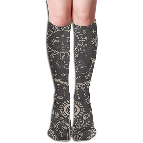 (Socks Vintage Moon Sun Star Sunflower Amazing Womens Stocking Decor Sock Clearance For Girls)