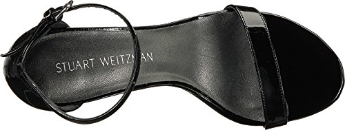 Stuart Weitzman Women's Nunakedstraight Heeled Sandal Black Patent cheap professional sale sneakernews fashionable cheap price cheap discount authentic discount with mastercard 287SX1