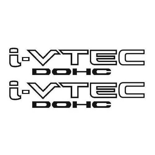 2 Pieces BLACK I-VTEC DOHC STICKER DECAL EMBLEM CIVIC S2000 ACCORD JDM IMPORT ILLEST ()