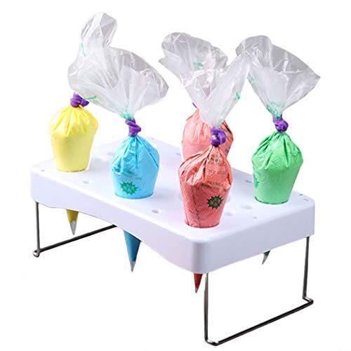 Justdolife Decorating Bag Holder Stainless Steel Decorating Bag Stand Cake Tool