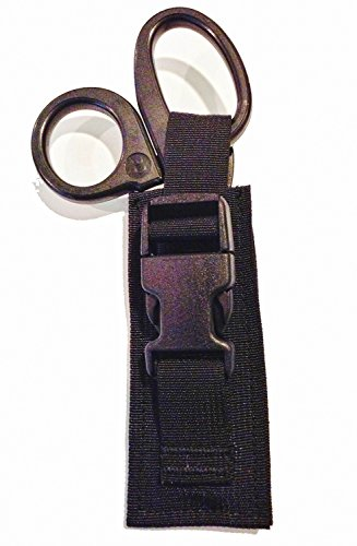Black Tactical Paramedic EMT EMS Medic Scissor Shears Sheath Pouch / Made in the USA by Pantel Tactical