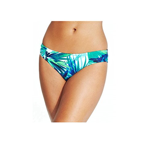 (Tommy Bahama Hawaiian Tropical Palm Floral Ruched Bikini Bottom, X-Small)