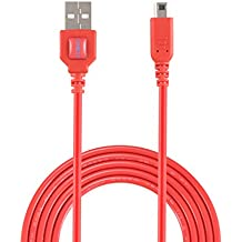 Exlene® Nintendo 3DS USB Power Charge cable [Play while charging ] For Nintendo 3DS, 3DS XL, 2DS, 2DS XL LL,DSi, DSi XL (1.2M/4ft, red)