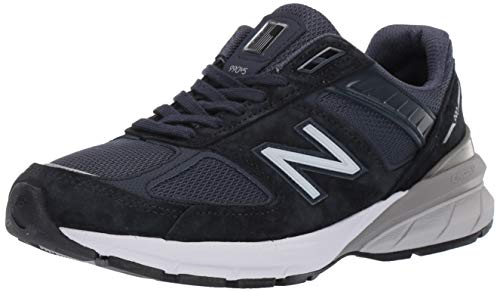 New Balance Women's 990v5 Sneaker, Navy/Silver, 10.5 W US