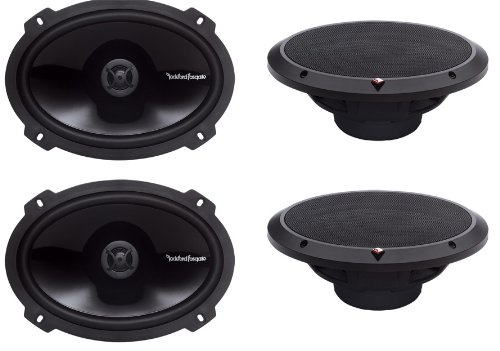 "4) New Rockford Fosgate P1692 6x9"" 300 Watt 2 Way Car Coaxia"