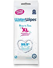 WaterWipes, Baby Wipes, XL Unscented, No-Rinse Textured Bath Wipes, for Sensitive & Newborn Skin, 1 Pack (16 Count)