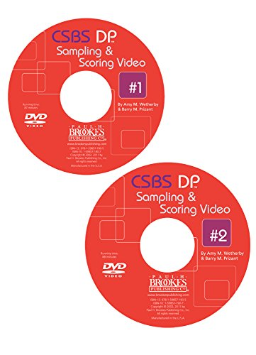 Comunication and Symbolic Behavior Scales Developmental Profile (Csbs DP) Sampling and Scoring Videos 1 & 2 on DVD