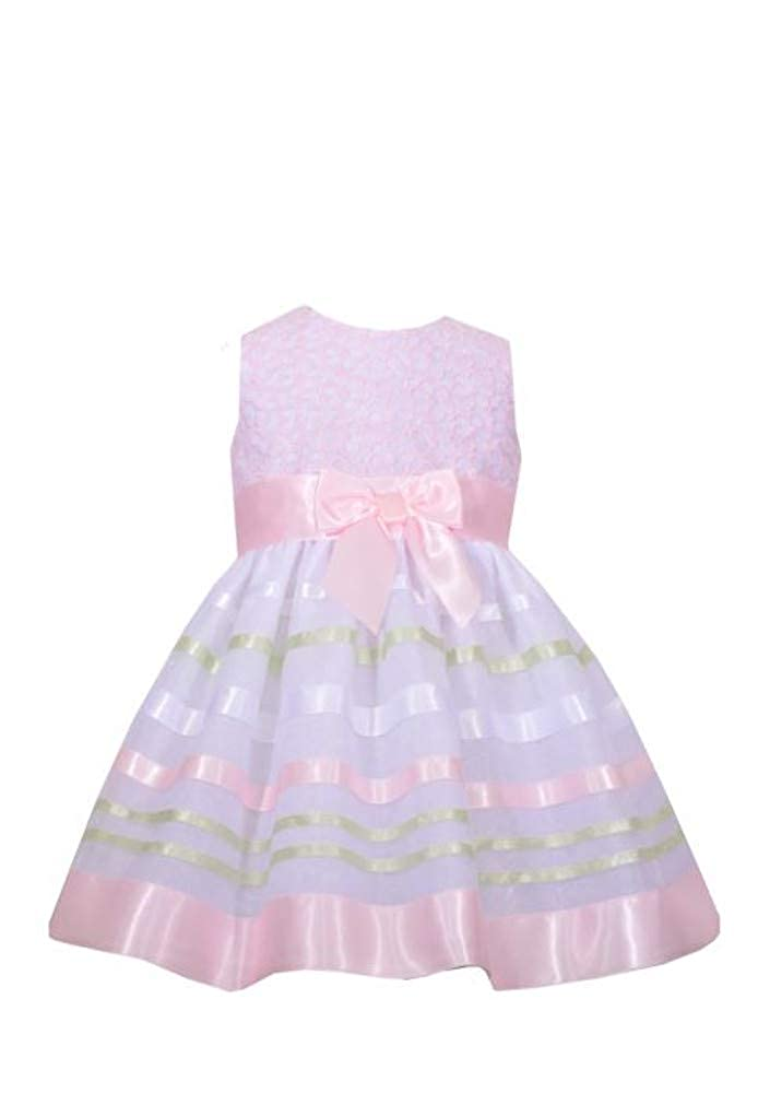 c427ac055ae Amazon.com: Bonnie Jean Baby Girls Easter Dress Spring Dress Ribbon:  Clothing