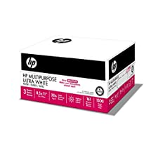 HP Printer Paper, Multipurpose Ultra White Copy Paper, 20lb, 8.5 x 11, Letter, 96 Bright - 3 Pack / 1,500 Sheets (112300C)