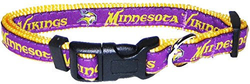 Pets First NFL Minnesota Vikings Pet Collar, Medium]()