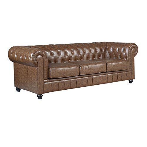 Fine Mod Imports FMI2197-brown Chestfield Sofa, Brown