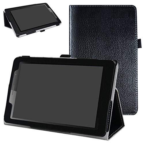 MediaPad T3 8.0 Case,Mama Mouth PU Leather Folio 2-Folding Stand Cover with Stylus Holder for Huawei MediaPad T3 8.0 Inch Tablet 2017 Release,Black