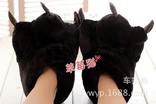 Regalo artiglio arancione e 35 Top mostro black pantofole Natale fumetto orso donne casa coppia Shishang uomini inverno novità di 40 7qwST5Wwg