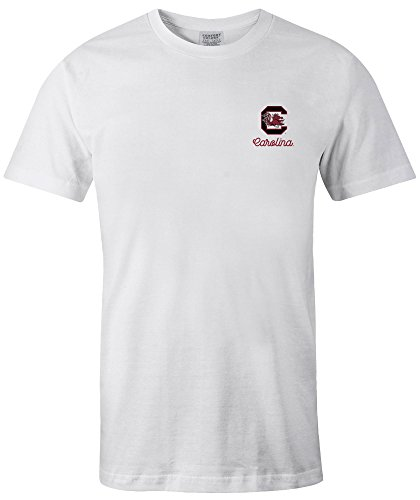 NCAA South Carolina Fighting Gamecocks Adult 50 States Comfort Color Short sleeve T-Shirt, X-Large,White