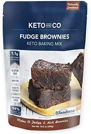 Keto and Co Fudge Brownie Keto Baking Mix, 10.2 OZ