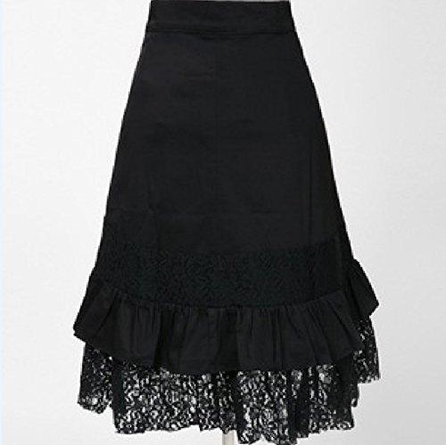 Steampunk Vintage Dentelle Hippie en Vtements de Gothique Femme Noir suxiAN Jupes Coton Gypsy 5wIYOY
