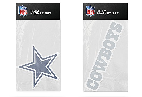 Dallas Cowboys Magnets (Rico NFL Dallas Cowboys 2-Pack Magnet Set)