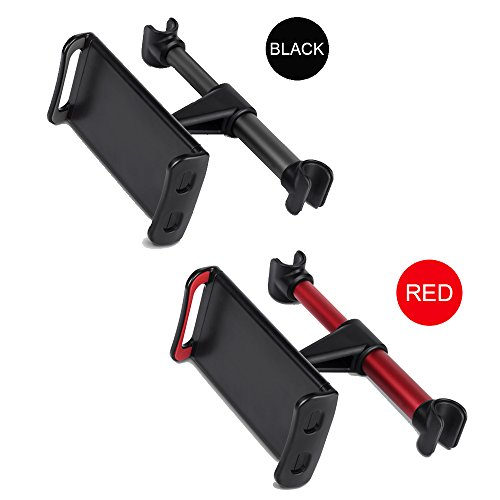 Tablet Car Seat Headrest Mount, Universal Mount Holder For iPad, Samsung Galaxy, Amazon Kindle Fire HD,Nintendo Switch, Fits All 4-10.5 inch Smartphones And Tablets (Balck-Red) by Devotee (Image #6)