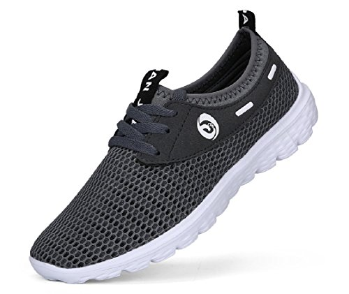 Juan Men's Lightweight Slip On Fashion Mesh Sneakers Breathable Running Shoes Athletic Outdoor Casual Sport Shoes (43 M EU / 9.5 D(M) US, Grey)