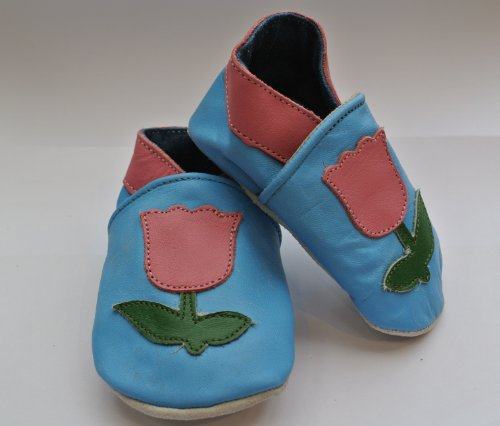 Cuero suave bebé zapatos niñas Tulipanes Talla:18-24m