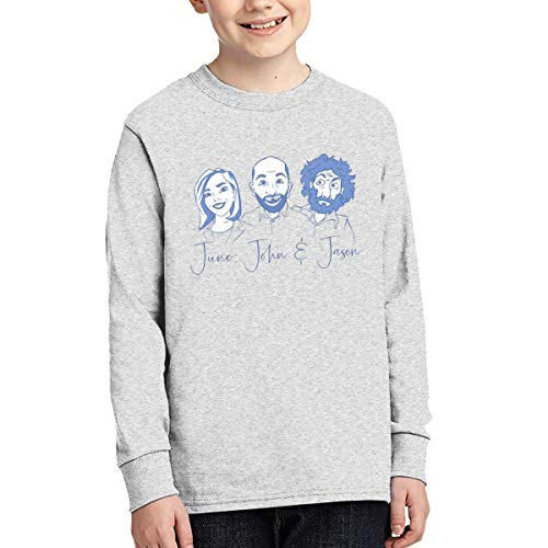 - Sunshine Store June, John, and Jason Youth Kids Long Sleeve T-Shirt for Boys