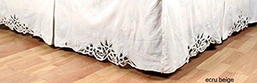 Creative Linens Battenburg Lace Bedskirt Dust Ruffle Twin Beige 100% Cotton