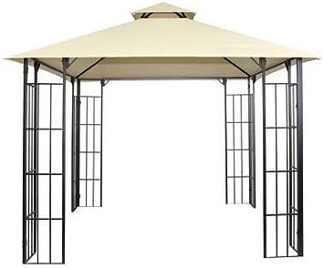 Atenas gazebo- elegante y práctica Jardín Accesorio fabricado en acero y poliéster, perfecto para comedor, fiestas, y relajante: Amazon.es: Jardín