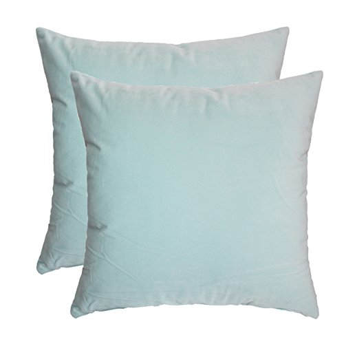 ZXKE Cushion Covers Solid Color Home Decorative Throw Pillow Cases Square 18